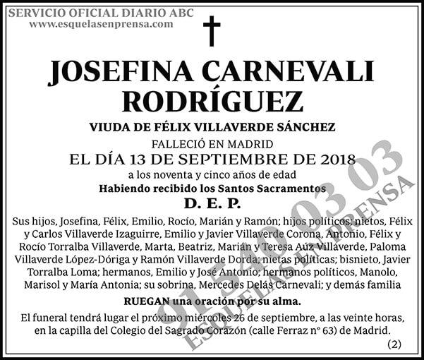Josefina Carnevali Rodríguez